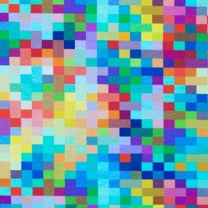 Billigtpyssel.se | Mönstrad Trikå 150 cm - Fyrkant Multi