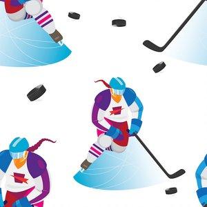 Billigtpyssel.se   Mönstrad Trikå 150 cm - Hockeytjej