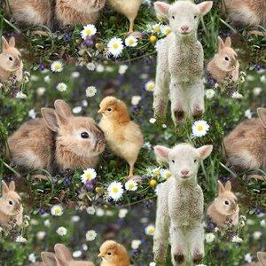 Billigtpyssel.se | Mönstrad Trikå 150 cm - Kaninen Lola