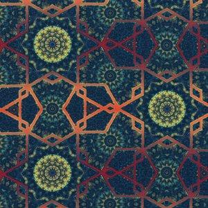 Billigtpyssel.se   Mönstrad Trikå 150 cm - Mandala Graphic