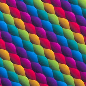 Billigtpyssel.se | Mönstrad Trikå 150 cm - Mixade Färger Våg