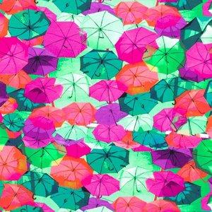 Billigtpyssel.se | Mönstrad Trikå 150 cm - Paraply Fuchsia