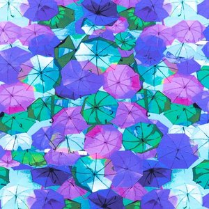 Billigtpyssel.se | Mönstrad Trikå 150 cm - Paraply Lila