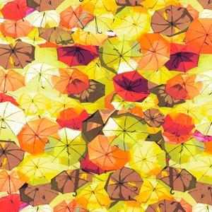 Billigtpyssel.se | Mönstrad Trikå 150 cm - Paraply Orange