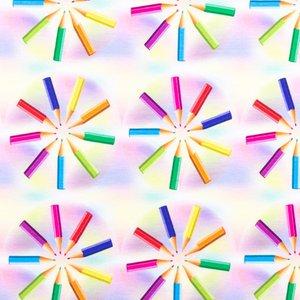 Billigtpyssel.se | Mönstrad Trikå 150 cm - Penna I Cirkel