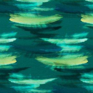 Billigtpyssel.se | Mönstrad Trikå 150 cm - Ränder Grön