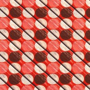 Billigtpyssel.se | Mönstrad Trikå 150 cm - Träcirkel
