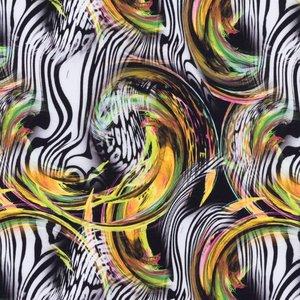 Billigtpyssel.se | Mönstrad Trikå 150 cm - Zebra Bubblor Gul