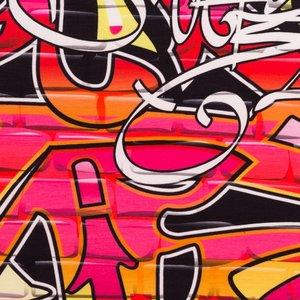 Billigtpyssel.se | Mönstrad Trikå 160 cm - Graffiti Konstvägg
