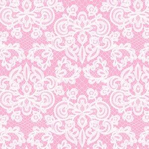 Billigtpyssel.se | Mönstrad Trikå 160 cm - Lace Rosa