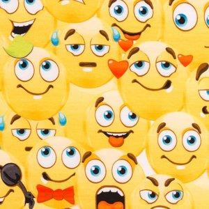 Billigtpyssel.se | Mönstrad Trikå 160 cm - Marvellous Edition Emoji
