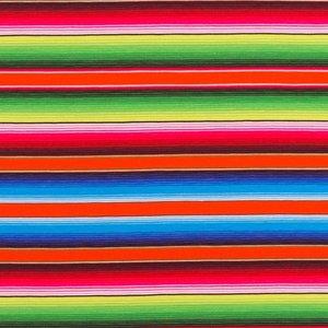 Billigtpyssel.se | Mönstrad Trikå 160 cm - Ränder Multi