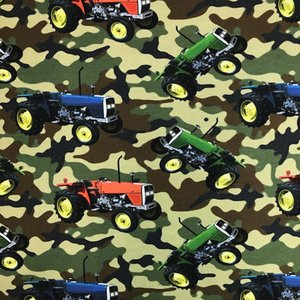 Billigtpyssel.se | Mönstrad Trikå 160 cm - Traktor Kammo