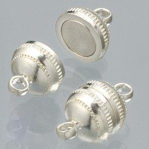 Billigtpyssel.se | Magnetlås ø 8 mm - försilvrad 2 st boll