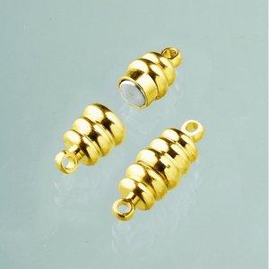 Billigtpyssel.se | Magnetlås 20 mm - guldpläterad 2 st olivformade