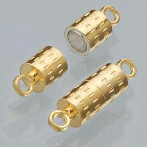 Billigtpyssel.se   Magnetlås 8 mm - guldpläterad 2 st cylinder