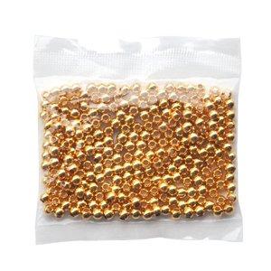 Billigtpyssel.se | Metallpärlor 250 st guld