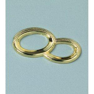 Billigtpyssel.se | Miniatyr 25 mm - guld 5 st. Dubbelring