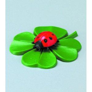 Billigtpyssel.se | Miniatyr 33 mm - 3-pack. Fyrklöver med nyckelpiga