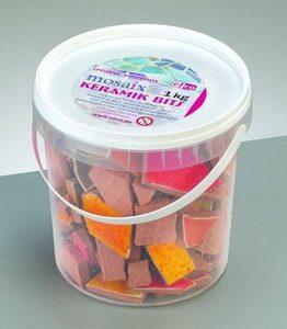 Billigtpyssel.se | Mosaix Mosaik keramikbitar 20 - 60 mm - rött blandade 1 kg
