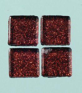 Billigtpyssel.se | MosaixPro-glasmosaik Glitter 15 x 15 x - brun 200 g ~ 95 st.