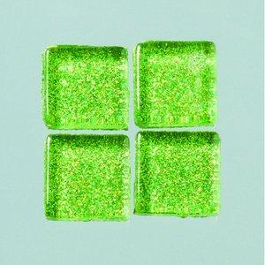 Billigtpyssel.se | MosaixPro-glasmosaik Glitter 15 x 15 x - grön 200 g ~ 95 st.