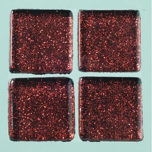 Billigtpyssel.se | MosaixPro-glasmosaik Glitter 20 x 20 x - brun 200 g ~ 41 st.