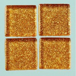 Billigtpyssel.se | MosaixPro-glasmosaik Glitter 20 x 20 x - koppar 200 g ~ 41 st.