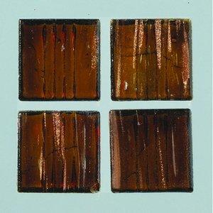 Billigtpyssel.se | MosaixPro-glasmosaik Goldline 10 x 10 m - mörkbrun 200 g ~ 302 st.
