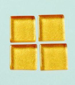 Billigtpyssel.se | MosaixPro-glasmosaik Metallic 15 x 15 x - guld 200 g ~ 95 st.