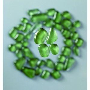 Billigtpyssel.se | MosaixSoft - glasmosaik 8 - 25 mm - grön 200 g ~ 140 st.