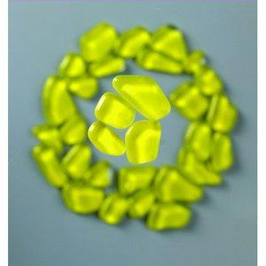 Billigtpyssel.se | MosaixSoft - glasmosaik 8 - 25 mm - gul 200 g ~ 140 st.