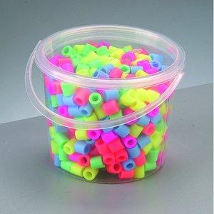 Billigtpyssel.se | Nabbi® Maxi pärlor - mix pastell 550 st i hink