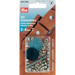 Billigtpyssel.se   Nitar 3-4 mm tjocka mässing silverfärg 20 st