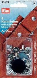 Billigtpyssel.se | Nitar 6-9 mm tjocka mässing silverfärg 8 st