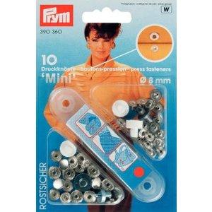 Billigtpyssel.se | Nittryckknapp Mini mässing silverfärg 8 mm 10 st
