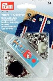 Billigtpyssel.se | Nittryckknapp YACHT&CA mässing silverfärg fastskruvas 15 10 st