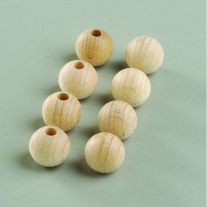 Billigtpyssel.se | Obehandlade träbollar - med halvhål (flera valbara storlekar)