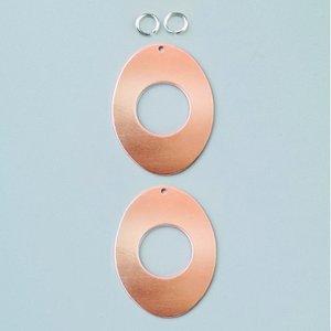Billigtpyssel.se | Ovala hängsmycke 41 x 31 mm - med hål