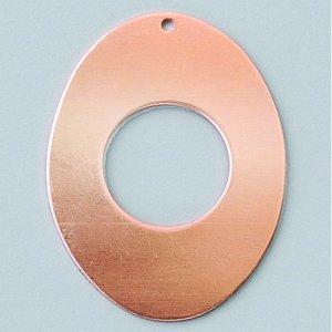 Billigtpyssel.se   Ovalt Hängsmycke 41 x 31 mm - med hål