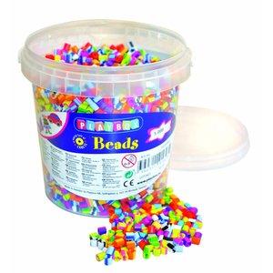 Billigtpyssel.se   Pärlor i hink Randiga - 5000 st