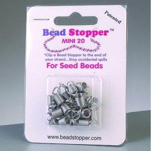 Billigtpyssel.se | Pärlstoppare D 6 x 7 mm - silver 20-pack liten
