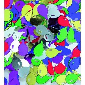 Billigtpyssel.se | Paljetter 12 mm - blandade färger 20 g ballonger