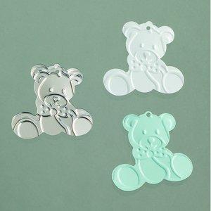 Billigtpyssel.se | Paljetter 20 mm - ljusblå silver vit blandade 20 g Baby / teddy