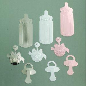 Billigtpyssel.se | Paljetter 25 - 45 mm - rosa silver vit blandade 20 g Baby mix