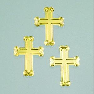 Billigtpyssel.se | Paljetter 25 mm - guld 20 g kors