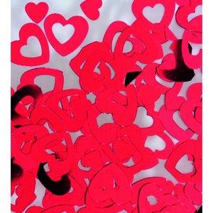 Billigtpyssel.se | Paljetter 7 / 13 mm - röd 20 g hjärtan