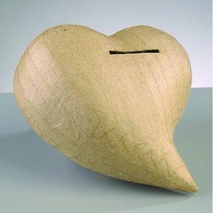 Billigtpyssel.se | PappArt figur spargris 14 x 13 x 7 - Hjärta