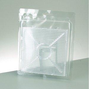 Billigtpyssel.se | Photo Pearls® pärlplatta 15 x 15 cm - transparent 2 st. för 900 pärlor