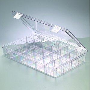 Billigtpyssel.se | Plastbox 33 x 22 cm - klar transparent 24 sektioner